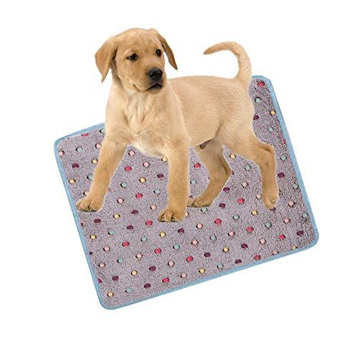 Weiß Blau Braun Grau Rosa Punkt Haustier Kühlmatte, Hitze Linderung Matte für Hund Katze, Ice Silk Weich Kühlkissen Sommer Schlafen Bett zum Klein Mittel Hund Katze (XL/73.5x61.5cm, Bunt 1)