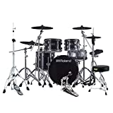 Roland VAD-506 V-Drums Acoustic Design Electronic Drum Kit with Drum Throne, Kick Pedal and Hi-Hat Stand