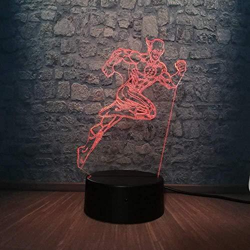 GEZHF Lámpara de mesita de noche inteligente, cambiador de luz de noche 3D, LED, decoración del hogar, regalo USB, lava brillante, 7 colores, lámpara luminosa DIY