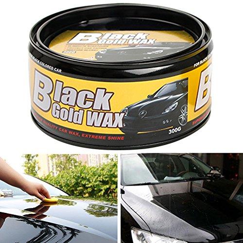Cera de carnaúba para coche, color negro ultra brillante, cera de carnaúba pura de alta calidad, cera de carnaúba de alto brillo, para reparación de pintura, elimina las manchas de arañazos.