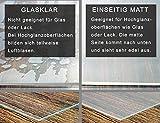 Vio Life Tischdecke Tischfolie Tischschutzfolie transparent einseitig MATT Keine Blasenbildung, Schutzfolie 2mm für Glastisch & Hochglanzlack neu im Sortiment (abgeschrägte Kanten, 160 x 90 cm) - 3