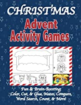 Christmas Advent Activity Games: Advent Calendar, Games: Color, Cut, & Glue, Mazes & More, Tips for Using the Book