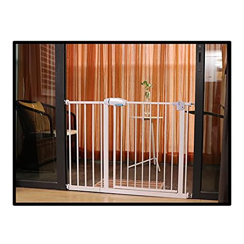 QIANDA Barrera Seguridad Niños Protector Escaleras, Auto Cerrado Seguridad Puerta del Bebé Montado A Presión por Balcón Escaleras Cocina, Se Adapta A Aberturas De 55-192 Cm De Ancho