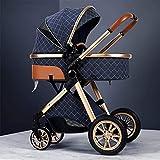 Cochecito ligero, cochecito de bebé de paraguas de alta vista, carro, carro de aluminio, cochecitos de cochecito plegable compacto, cesta de almacenamiento, cubierta a prueba de intemperie y bolso de