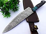 Chef Knife 13 Inches Damascus Blade Lasts a Lifetime, Sharpest Professional Chefs Knife For Cooking,...