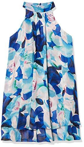 Eliza J womensEJ6M2506Floral Float Dress with Ruffles Sleeveless Dress - Blue - 10
