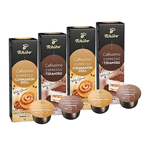 Set Tchibo Cafissimo Flavoured Espresso Tiramisu und Espresso Cinamon Roll, 40 Stück