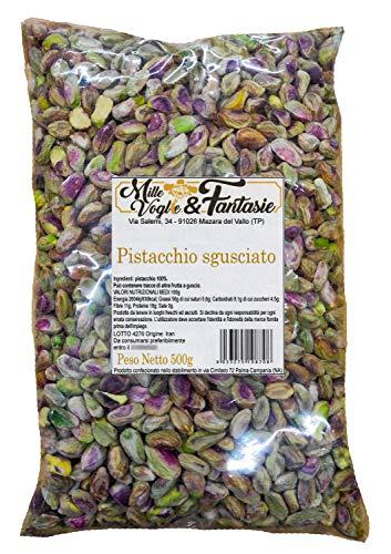 Pistacchi sgusciati naturali non salati altissima qualità per dolci e salati 500 Gr