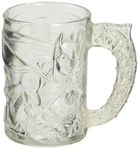 "McDonalds 1995 Clear 4"" Glass BATMAN FOREVER Mug"
