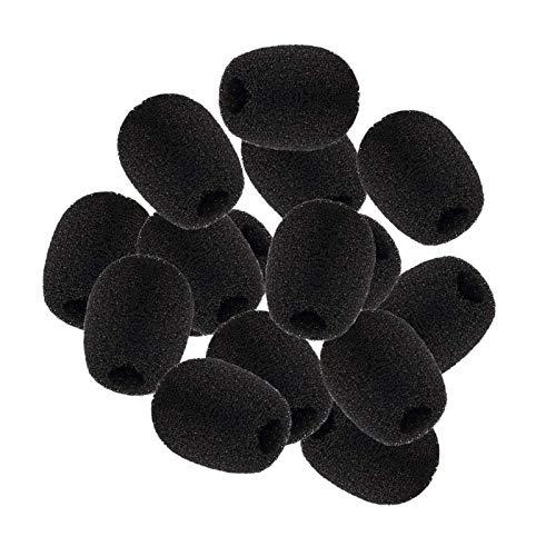 JZZJ Pantallas Antiviento de Micrófono Auriculares de Solapa, Cubiertas de Micrófono de Espuma, Mini Tamaño, 15 Piezas
