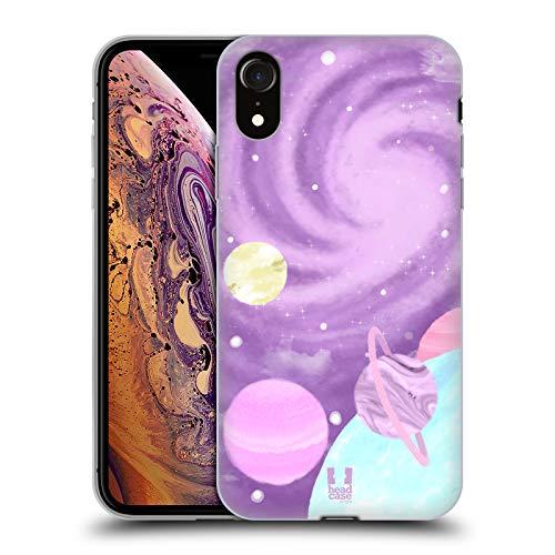 Head Case Designs Galaxia Espacio Pastel Carcasa de Gel de Silicona Compatible con Apple iPhone XR