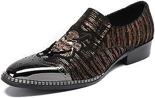 d3ac75c266d Punta de otoño de los hombres Punta puntiaguda, Zapatos de cuero casuales  de moda,