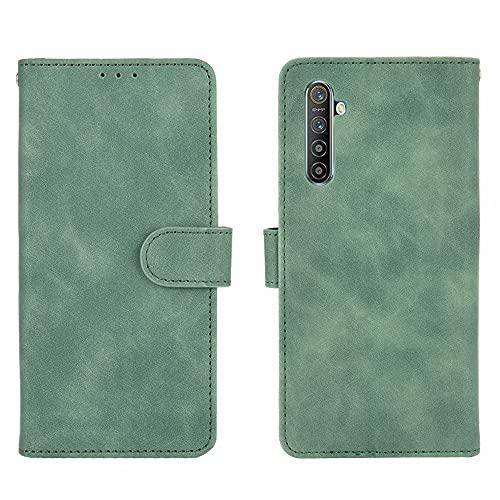 Funda protectora Monedero para OPPO REALME XT, cartera de cartera para Oppo Realme X2, cartera de cuero PU con titular de la tarjeta de crédito Tapa protectora a prueba de golpes ( Color : Green )