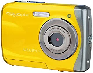 Easypix Aquapix W1024 - Cámara compacta digital (10 MP 2.4 zoom digital 4x VGA) color amarillo