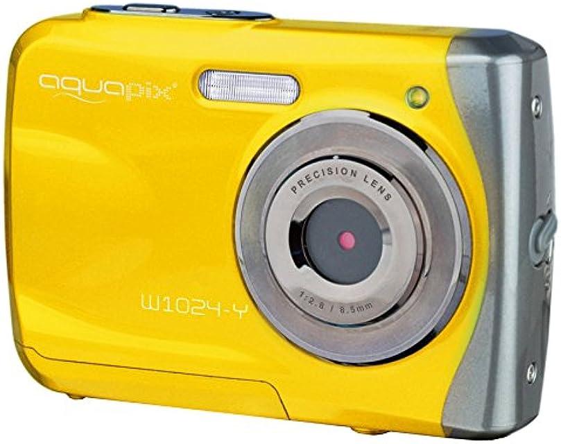 Easypix Aquapix W1024 - Cámara compacta digital (10 MP 2.4 zoom digital 4x VGA) color amarillo