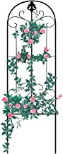 Gray Bunny Garden Trellis for Vines and Climbing Plants, Black Metal Wire Lattice Grid Panels for Cucumber & Vegetables, Clematis Support, Rose Vines, Durable & Sturdy Beautiful Plant Decor