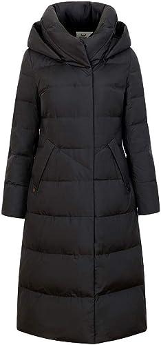 AZW@ Doudoune, Doudoune Hiver, Longue Section Féminine Au-Dessus du Genou, Manteau épais Et Allongé, Rallonge en Duvet De Grande Taille, Veste Chaude à La Taille