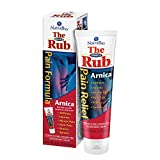 NatraBio The Arnica Rub | 8% Arnica | Homeopathic Pain Formula for Relief from Stiffness, Injuries, Muscle Pain, Back Pain, Bruises & Sprains | 4 oz