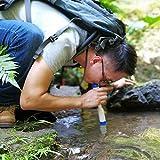 DAUERHAFT Paja Durable plástica del Filtro de Agua de la categoría alimenticia del ABS, Conveniente para Las Actividades al Aire Libre