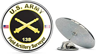 Veteran Pins U.S. Army MOS 13S Field Artillery Surveyor Metal 0.75