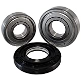 Front Load Bearings Washer Tub Bearing and Seal Kit with Nachi bearings, Fits LG & Kenmores listed with seal 4036ER2004A (5 year replacement warranty and link to our'How To' videos)