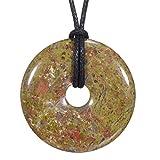 Morella Collar para Mujer 80 cm y Colgante de Gema en Forma de Donut Unakit en Bolsa de Terciopelo