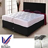 <span class='highlight'><span class='highlight'>sleepkings</span></span> BLACK ZIP AND LINK BED DIVAN BED   ORTHO MATTRESS AND HEADBOARD STORAGE AVAILABLE (6FT SUPER KING SIZE)