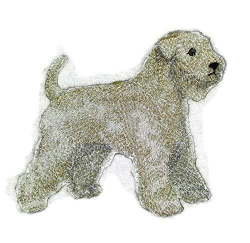 BeyondVision Erstaunlich benutzerdefinierte Hund Portraits Stickerei Eisen Nähen Patches 5 x4.8 weiß, schwarz, grau,