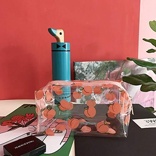Mignon de Bande dessinée Fille Sac cosmétique Transparent Dames Sac cosmétique Sac cosmétique Fermeture à glissière PVC boîte de Stockage des Articles de Toilette de Voyage (Color : 4)