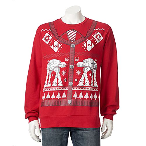 Star Wars Bataille de Hoth AT-AT Ugly No?l Pull Cardigan Imprimer (Petit)