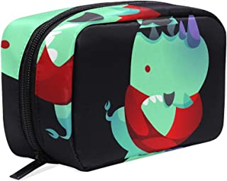 Cosmetic Bag Rhinoceros Cartoon With Crossed Arms Girls Makeup Organizer Box Lazy Toiletry Case