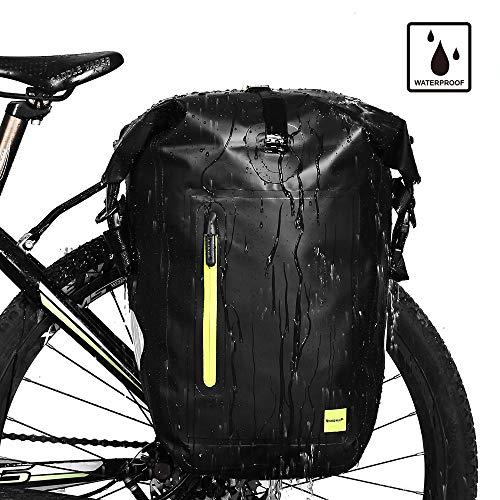 Rhinowalk Bike Bag Waterproof Bike Pannier Bag 25L,(for Bicycle Cargo Rack Saddle Bag Shoulder Bag Laptop Pannier Rack Bicycle Bag Professional Cycling Accessories)