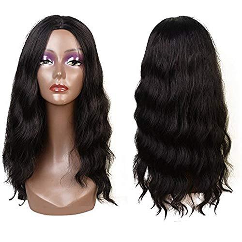Perruques synthétiques élégantes pour femme noire, naturellement ondulées, 55,9 cm