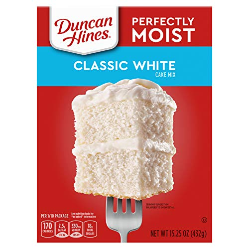 Duncan Hines Perfectly Moist, Classic White Cake Mix, 15.25 Ounce (Pack of 12)