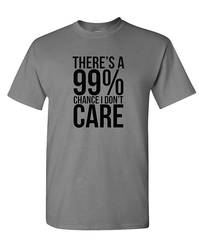 Guacamole 99% Chance I Don't Care - Sarcastic Meme - Mens Cotton T-Shirt