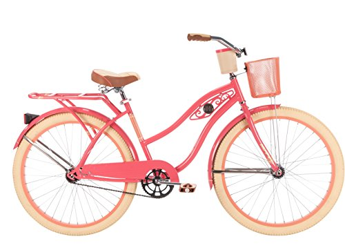 26'' Huffy Deluxe Women's Cruiser Bike, Coral