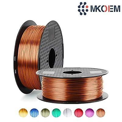 Silk Copper 3D Printer Filament 1.75mm PLA Filament 1KG 2.2LBS 1 Spool MKOEM