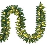 Casaria Weihnachtsgirlande I 5m I 100 LED's I In- & Outdoor I Tannengirlande Tannenzweiggirlande Weihnachtsdeko