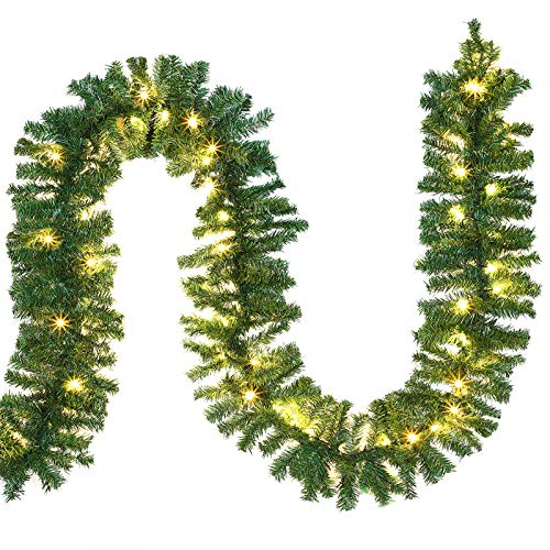 Casaria Guirlande Lumineuse Sapin Noel Intérieur Extérieur 5m 100 LED Guirlande Branche de Sapin LED