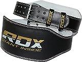 RDX Ceinture de Musculation 6' Cuir Vachette Musculation Fitness Bodybuilding Force Belt Lombaire Halterophilie Entraînement
