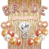 Kit di decorazioni per feste di addio al nubilato, palloncino in stagnola con anelli, 2 pa...