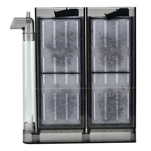 Redxiao 【 】 Filtro neumático, Placa de Filtro de carbón Activado de Cuerpo Delgado con potentes ventosas y Ganchos para Equipos de filtración de acuarios(20)