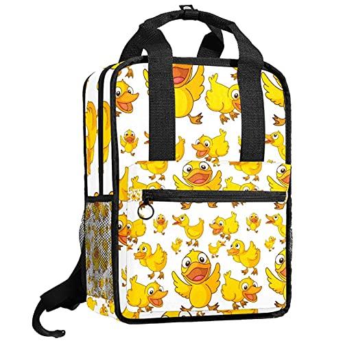 AITAI Linda mochila de patitos amarillos para adolescentes College Daypack bolsa de viaje