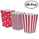 Scatole di popcorn, scatole di caramella di carta della puntina dell'onda della banda 48pc...