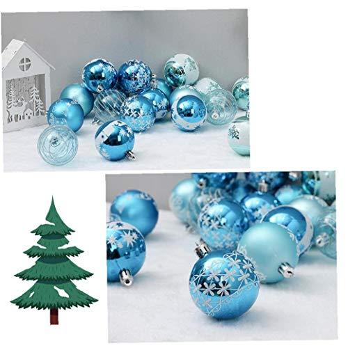 NaisiCore Colgantes Party Decor 6CM del árbol de Navidad Ornamento de la Bola chuchería de Gota Colgante de Navidad Decoración de 24Pcs