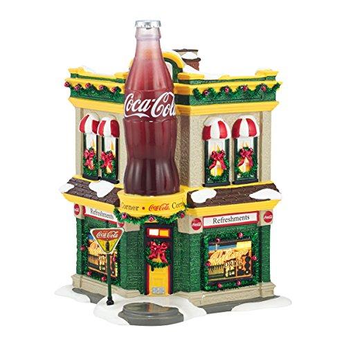 Department 56 Snow Village Coca-Cola Corner Fountain Lit House, 8.27 inch