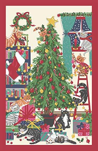 Ulster Weaver Geschirrtuch, Weihnachtsbaum, Katzen, Baumwolle, Mehrfarbig