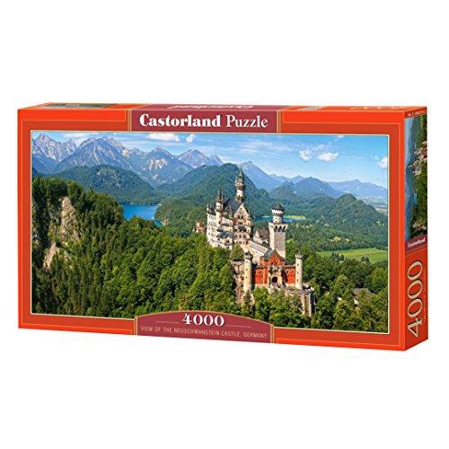 Castorland C-400218-2 - Puzzle View of The Neuschwanstein Castle, 4000 Pezzi