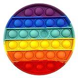 2021 Nuovo Fidget Giocattolo Push Pop Bubble, Arcobaleno Stress Alleviare per ADHD Autismo Ansia - Push Pop Bubble Sensory Fidget Toy, Estrusione Bolla Giocattoli Sensoriali Educativi Estrusione