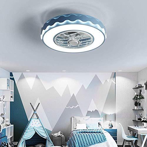 WEM Lámpara de techo moderna creativa con ventilador Lámpara de techo Led, Ventilador de techo regulable con iluminación Control remoto Silencioso, Habitación de niños Dormitorio Sala de estar Lámpar